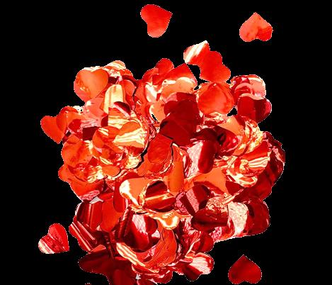 Пневмохлопушка CM031 (сердечка микс фольгированные) 30 см
