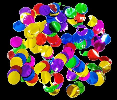 Пневмохлопавки CM032 (Кружечки кольорові фольговані ) 30 см