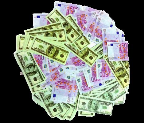Пневмохлопушка CM035 (Евро и Доллар) 30 см
